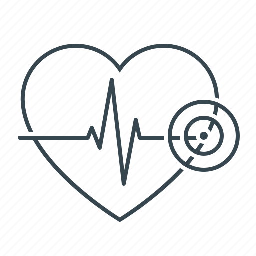 Heart, heartbeat, heartbeat rate, medicine, rate icon - Download on Iconfinder
