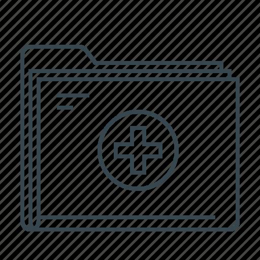 document, folder, healthcare, medical, medical folder, medicine icon