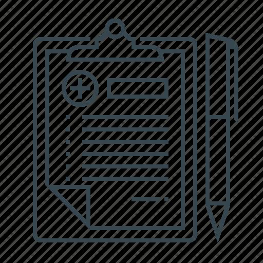 clipboard, medical, medical records, medicine, records icon