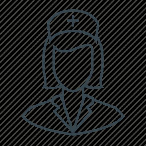 avatar, girl, healthcare, medicine, nurse, woman icon
