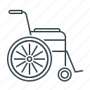 disabled, invalid, medicine, wheelchair icon