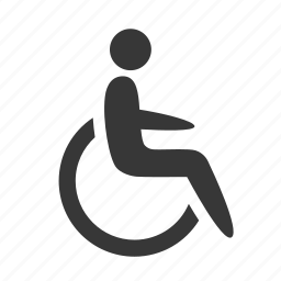 disabled, health, healthcare, hospital, medical, medicine, raw, simple, wheelchair icon