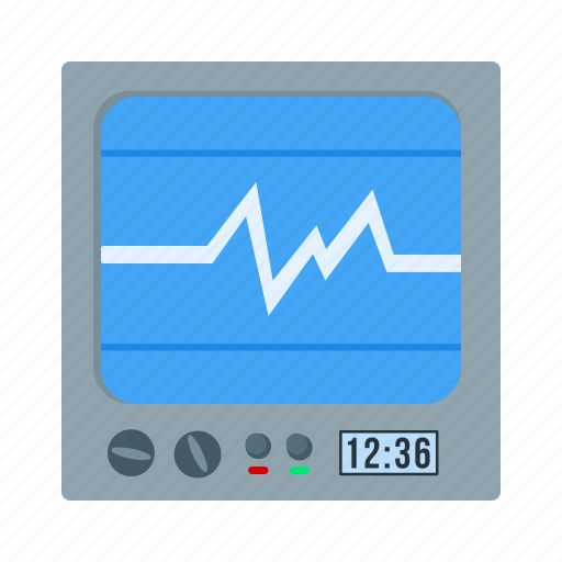 cardiogram, healthcare, heart, heartbeat, medical, monitor, screen icon