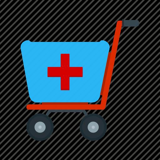 cart, health, healthcare, hospital, medical, medicine, nurse icon