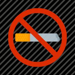 addiction, cigarette, no, sign, smoking, tobacco, warning icon