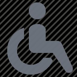 health, healthcare, hospital, medicine, pika, simple, wheelchair icon
