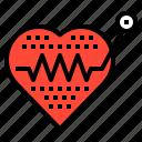 cardio, hearth, life, pulse, rate icon