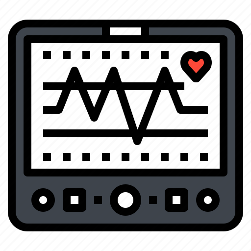 Health, heart, monitor, pulse, rate icon - Download on Iconfinder