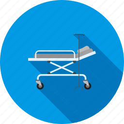 clinic, health care, hospital bed, medical, operating room, patient, room icon