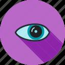 eye, eyesight, human organ, ophthalmology, optical, optics, vision icon