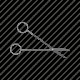 cut, equipment, instrument, scissor, scissors, surgical, tool icon