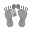 body, dead body, dead person, feet, lying, tag, victim icon