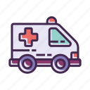 ambulance, emergency, hospital, medical icon