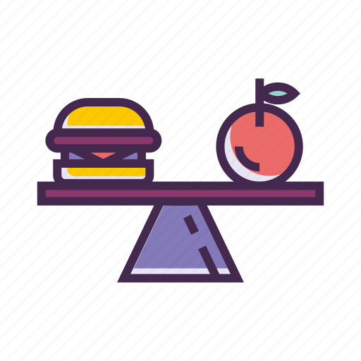 apple, balanced, diet, food, fruit, healthy, nutrition icon