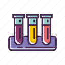 chemicals, experiment, lab, research, science, test, test tube icon