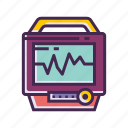 ecg, monitor icon