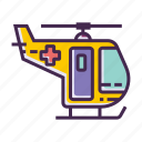 chopper, emergency icon