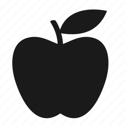 apple, bodybuilding, fitness, fresh, fruit, health, leaf icon
