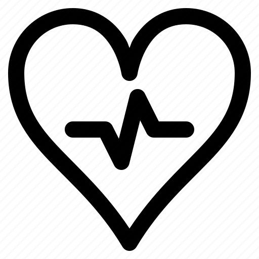 Health, healthy, heart, hospital, love, medical, pulse icon - Download on Iconfinder