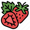 berry, healthy, strawberry, vitamin icon
