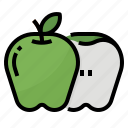 apple, fruit, healthy, nutritious icon