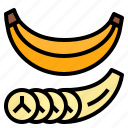 banana, fruit, healthy, nutritious icon