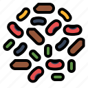 fiber, healthy, legumes, protein icon