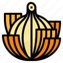 healthy, nutritious, onion, vegetable icon