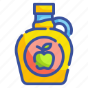 agave, apple, food, healthy, sweet, syrup, vegan icon
