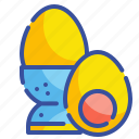 boiled, egg, food, gastronomy, healthy, nutrition, organic icon