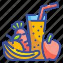 beverage, drink, fruit, healthy, juice, organic, smoothie icon