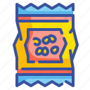 beans, food, healthy, lentils, organic, oriental, snack icon