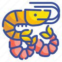 animal, food, gourmet, prawn, seafood, shellfish, shrimp icon
