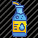 beverage, bottle, drink, healthy, hydratation, potable, water icon
