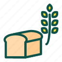 bread, diet, food, healthy, oat, wheat icon