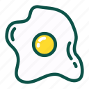 chicken, diet, egg, food, healthy, protein icon