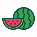 diet, food, fruit, healthy, watermeleon icon