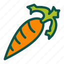 carrot, diet, food, healthy, vegetables icon