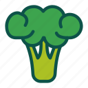 broccoli, diet, food, healthy, vegetables icon