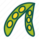diet, food, healthy, soybean, vegetables icon