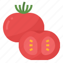 healthy, nutritious, tomatoes, vegetable icon