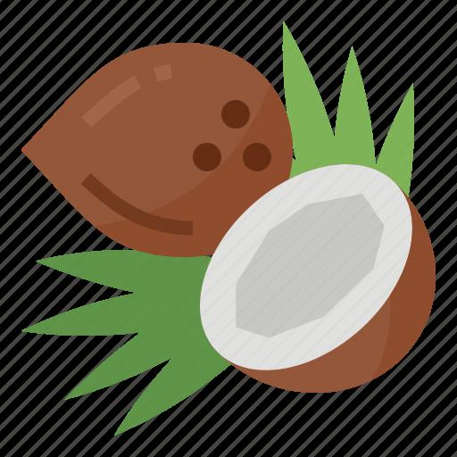 coconut, healthy, nutritious, oil icon