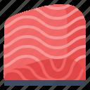 healthy, omega, protein, salmon icon