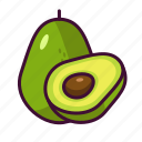 avocado, food, fruits, healthy, sweet icon