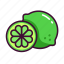 food, fruits, healthy, lime, sweet icon