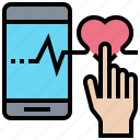 app, heart, medical, rate, smartphone