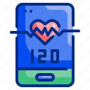 app, healthy, heart, hr, medical, phone, rate icon