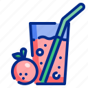 drink, food, glass, healthy, juice, orange, organic icon