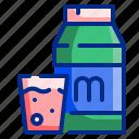 breakfast, drink, glass, healthy, milk, water icon