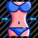 beaty, bikini, body, fit, healthy, slim, thin icon